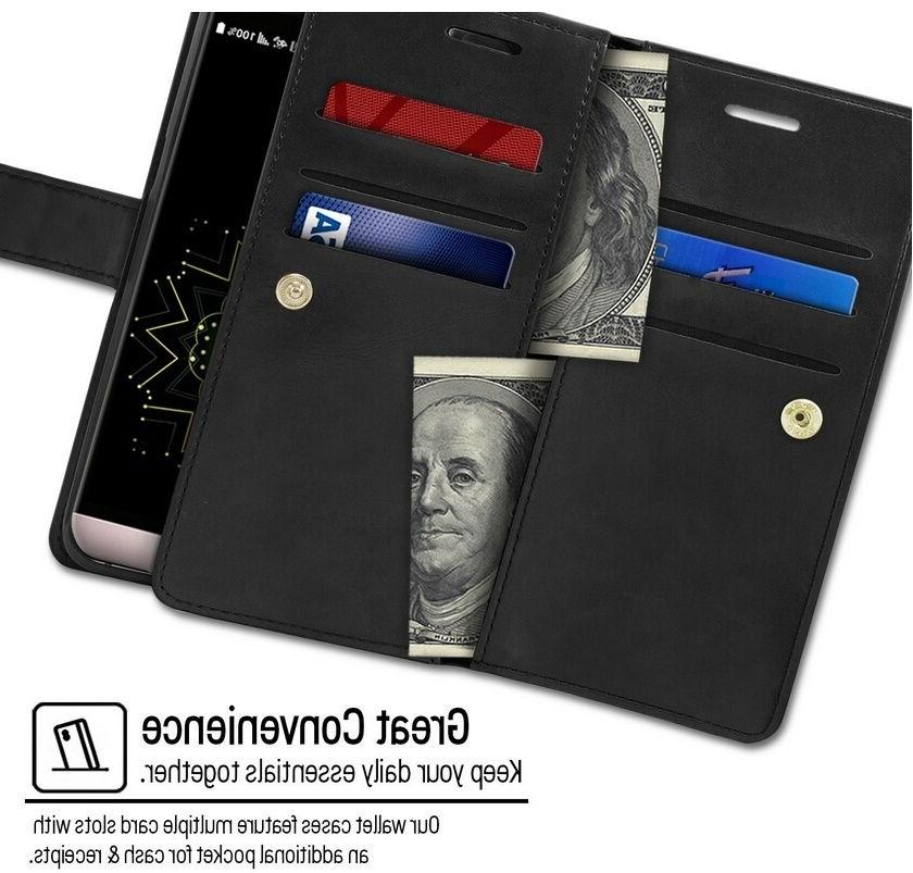 Double Card Slot Book Case cover for LG 30