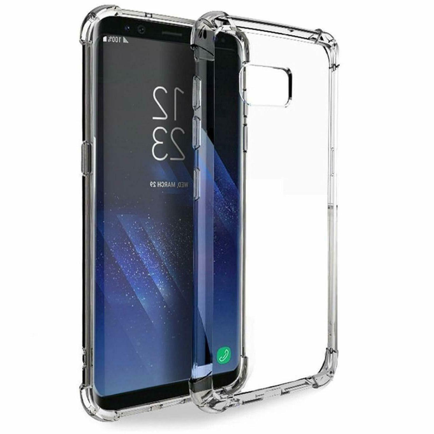 galaxy s8 plus case crystal clear shockproof