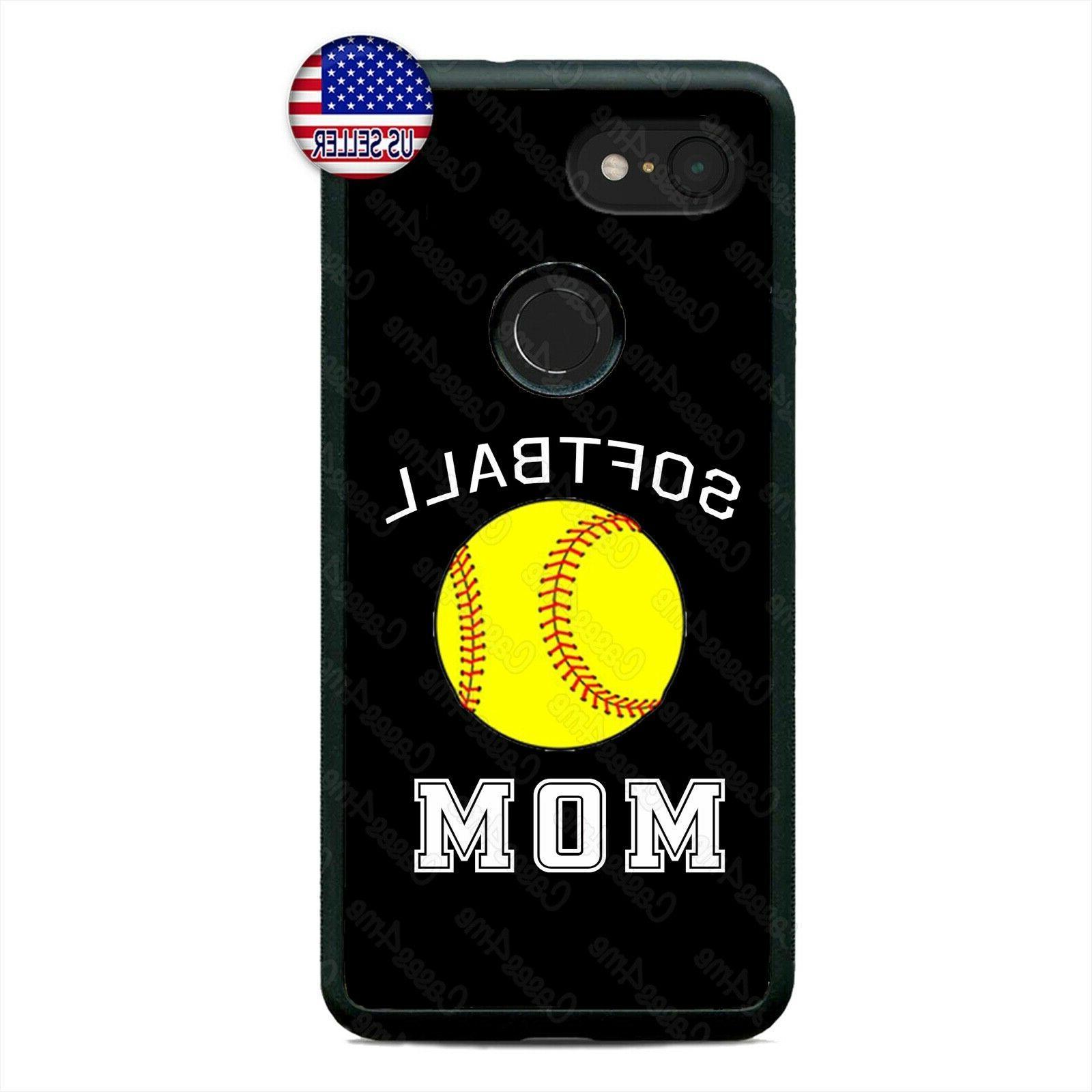 Google Pixel 3 3XL 2XL Softball Mom Team Sports Fan  Cell Ph