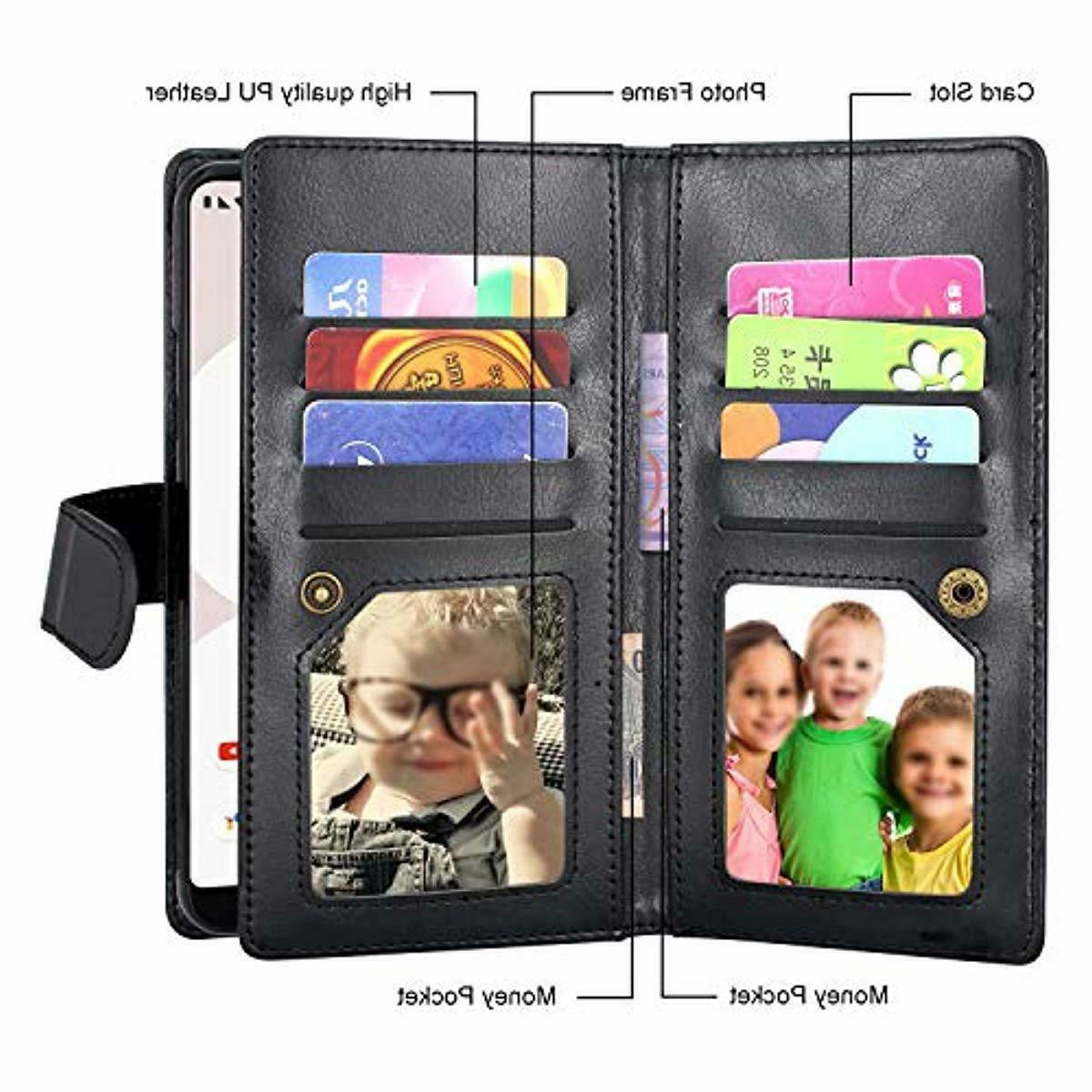 Google Case, Magnetic 12 Slots Wallet Case