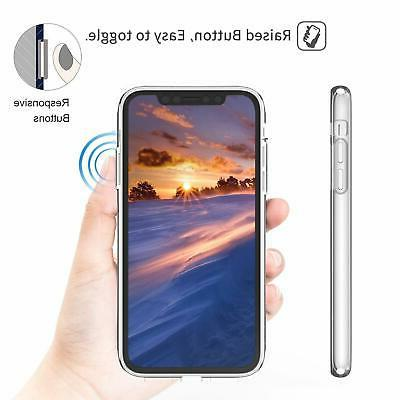 JAHOLAN Girl Soft Flexible Silicone Cover with iPhone X/Xs