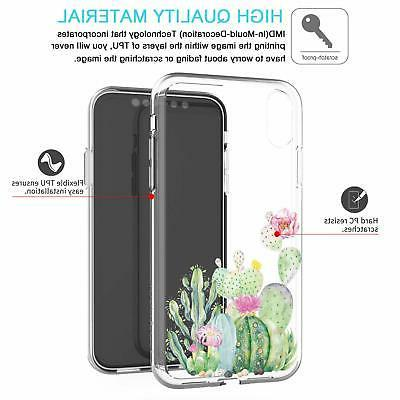 JAHOLAN Cute Girl TPU Soft Slim Flexible Silicone Cover Phone with X/Xs