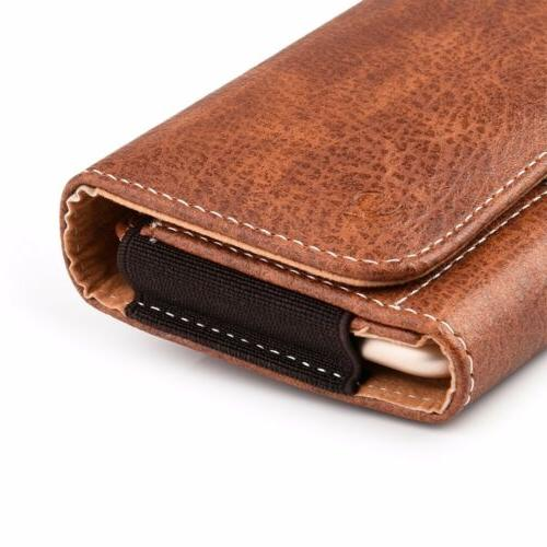 Horizontal Cell Phone Pouch Wallet Case Belt Holster