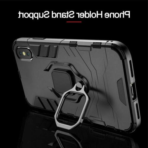 For Pro X XS Max 6 7 Plus Hybrid Magnetic Stand Holder Case