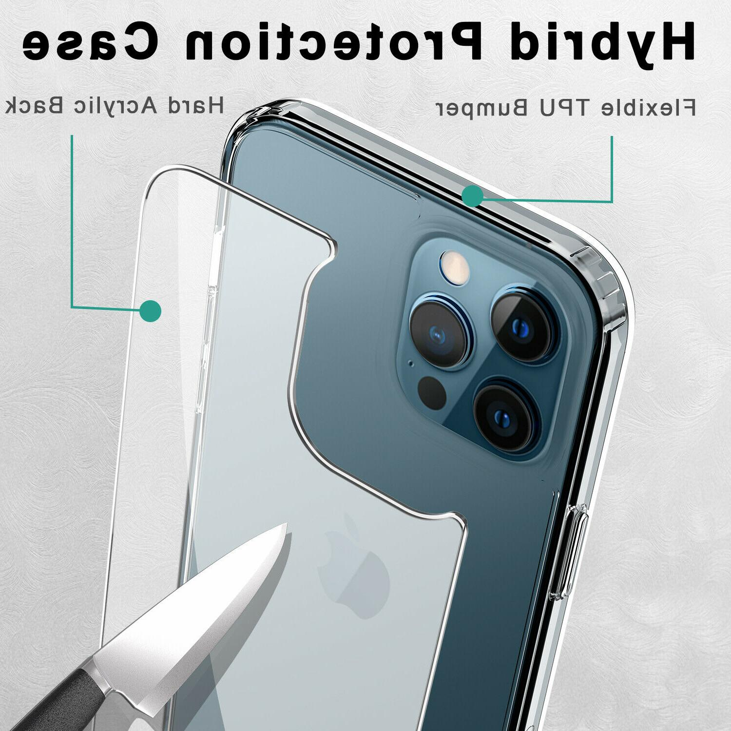 For Case Crystal Clear Slim Shockproof TPU Phone