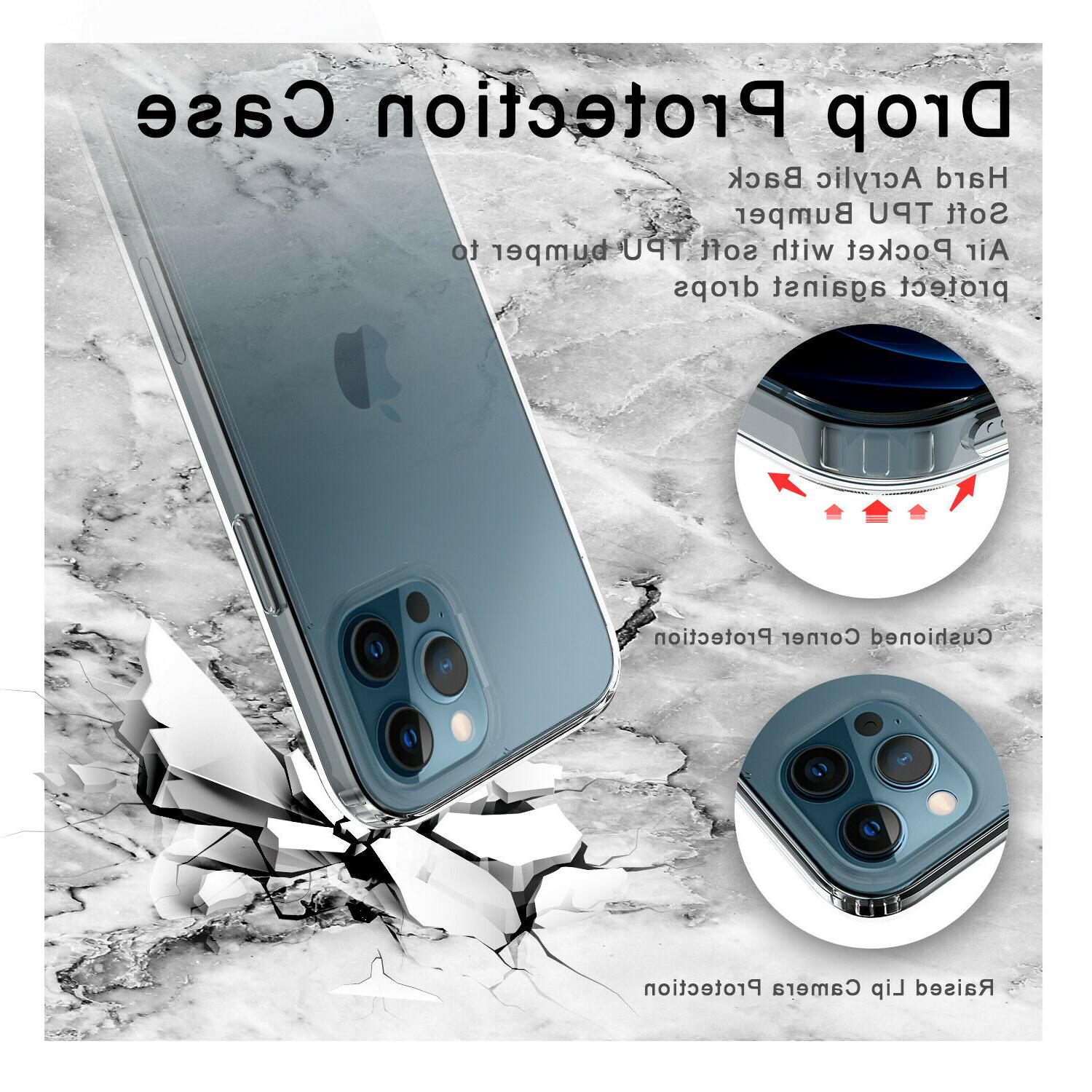 For iPhone Crystal Clear Slim TPU Phone Cover