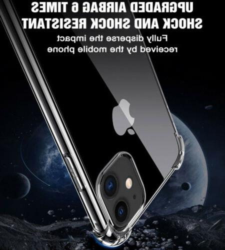For 12/Pro/Max/Mini/11 Crystal Clear TPU Phone