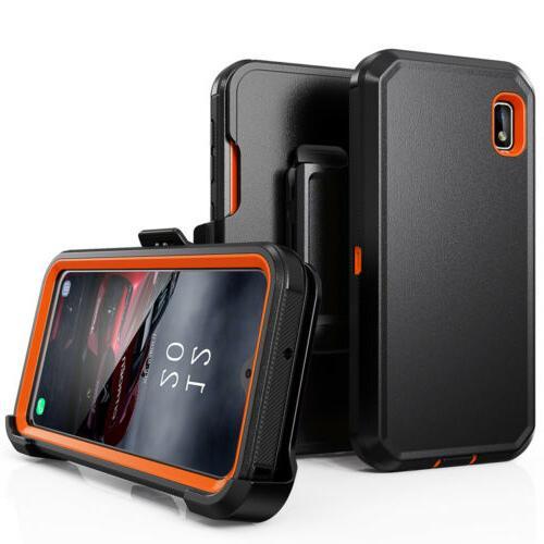 For LG Phone Case+Belt Otterbox Defender+Tempered