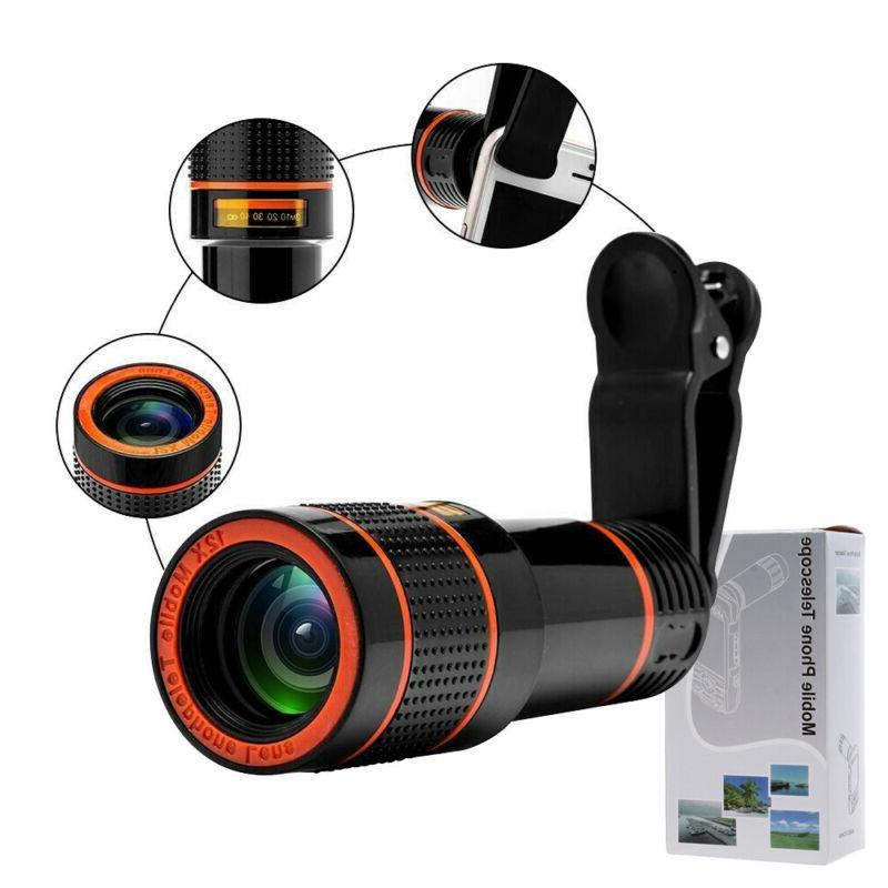 lens cell phone camera lens kit 12x