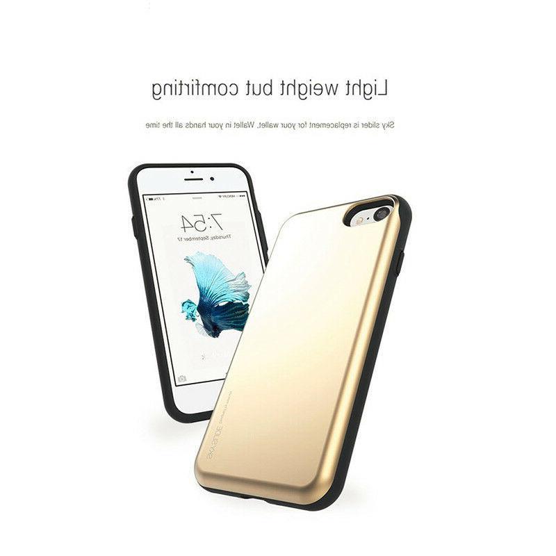 iPhone 6/7/8, X GOOSPERY Slide Bumper Cell Phone Case Card TPU