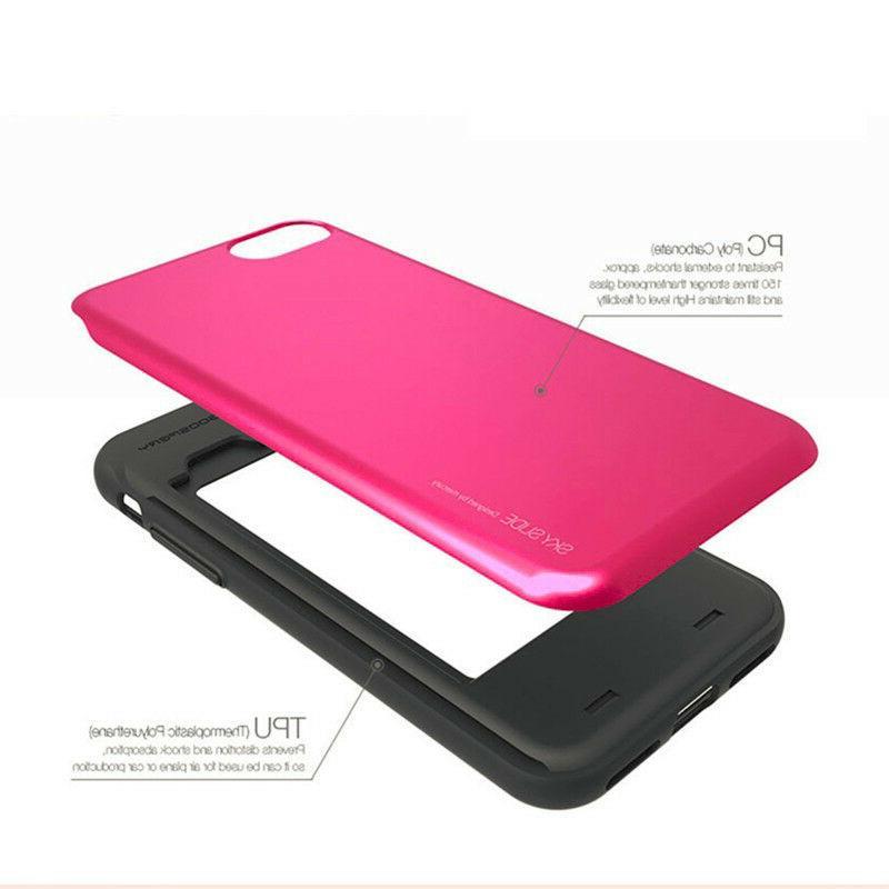 iPhone 6/7/8 Plus, X Sky Slide Bumper Cell Card