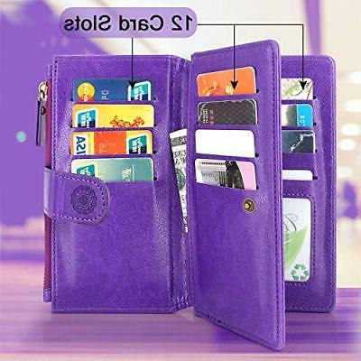LG Case Harryshell Magnetic Zipper Wallet Leather
