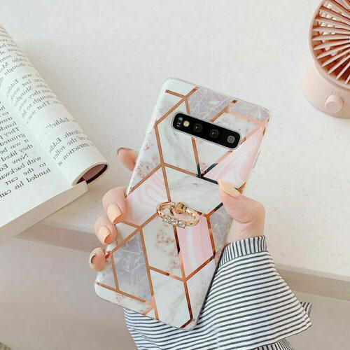 Marble Phone Case Cover For 10 S8 Finger
