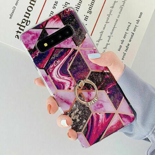 Marble Phone Cover 10 S10 Plus S9 S8 Finger Ring US
