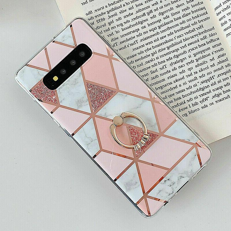 Marble For Samsung Galaxy 10 S10 Plus S8 Ring