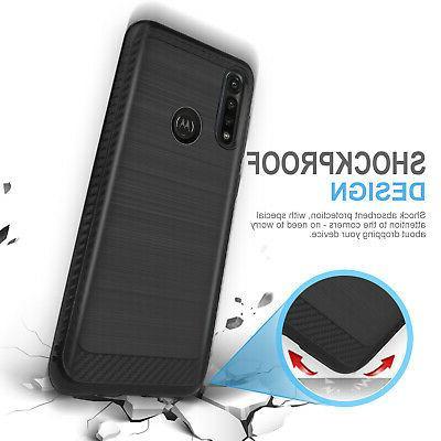 For Motorola Moto G Power 2020 Case Armor Cover Glass