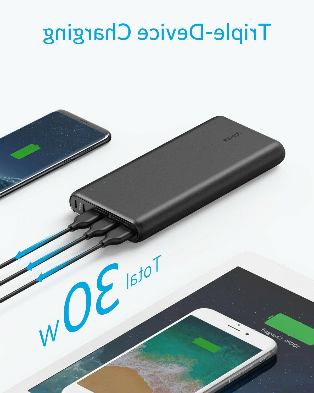 Anker Bank Portable Charger 3-Port Battery for