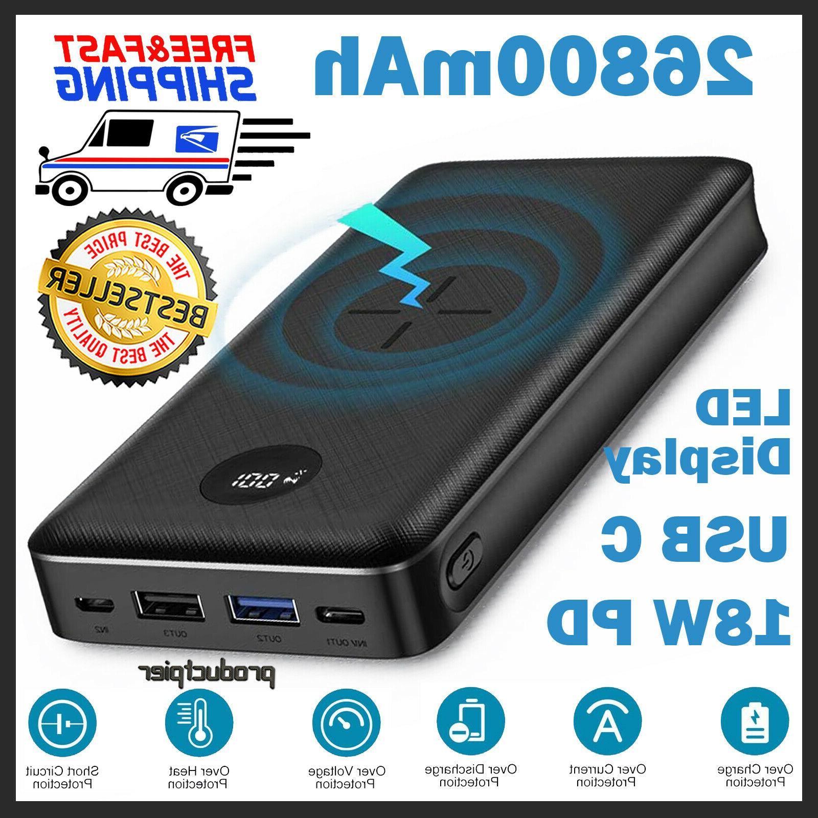 ravpower xtreme 26800mah external battery charger power