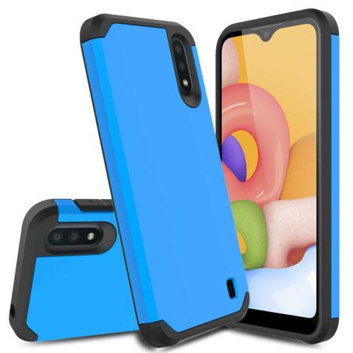 For Samsung A11 A21 Case Hybrid Armor Phone Cover