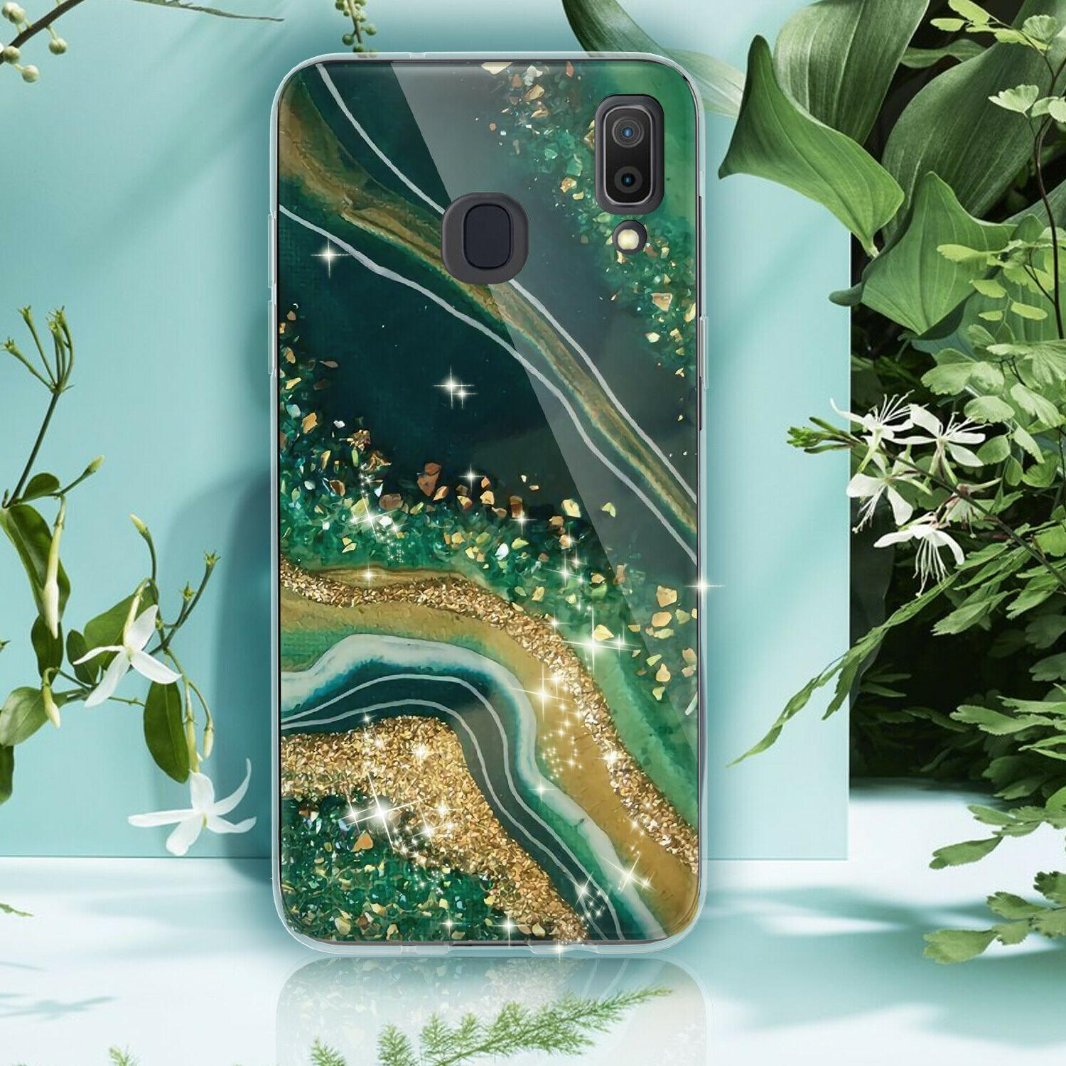For Galaxy A20 A50 Green Glass