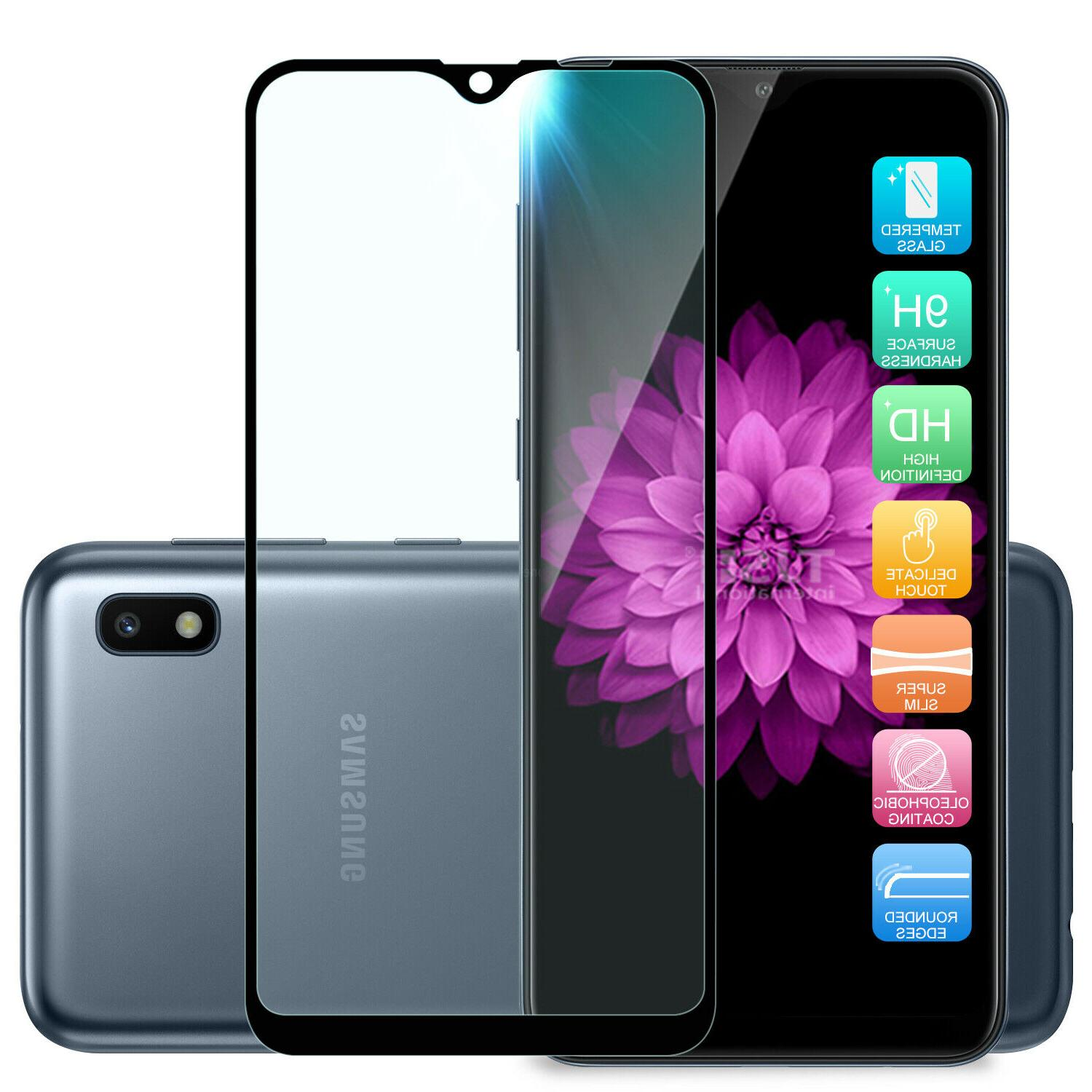 For Samsung Galaxy A10e Metal Ring Stand Glass