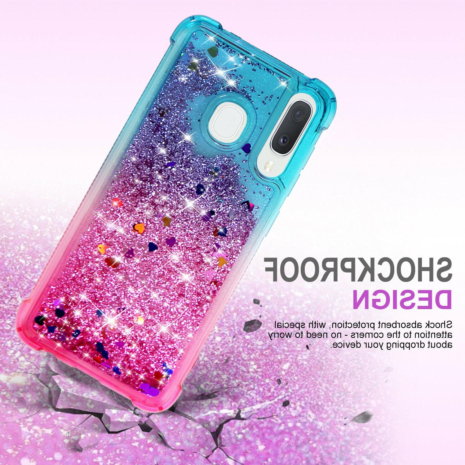 For A20 Cover Glitter Gradient Bling TPU