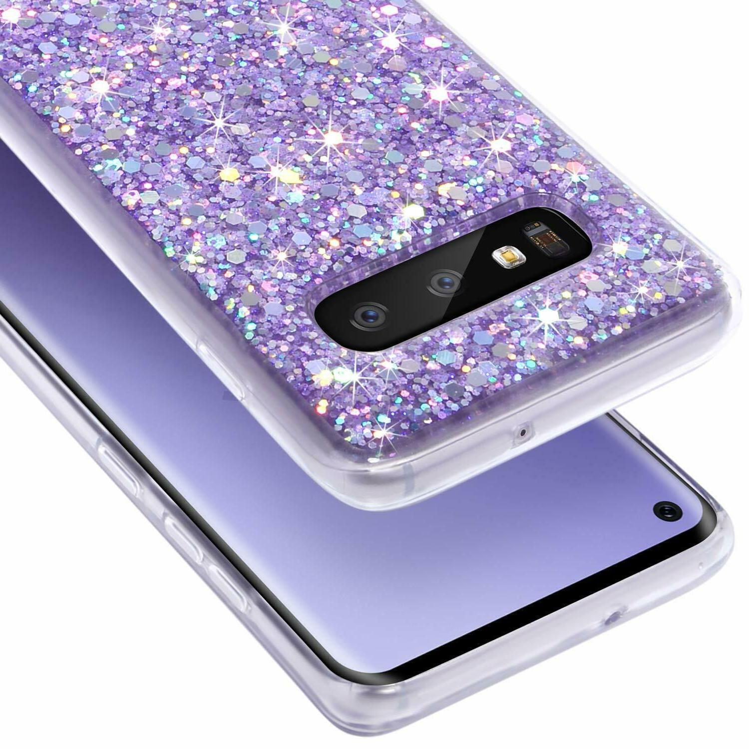 Samsung Galaxy A10e A50 A70 Shockproof Glitter Bling Cover