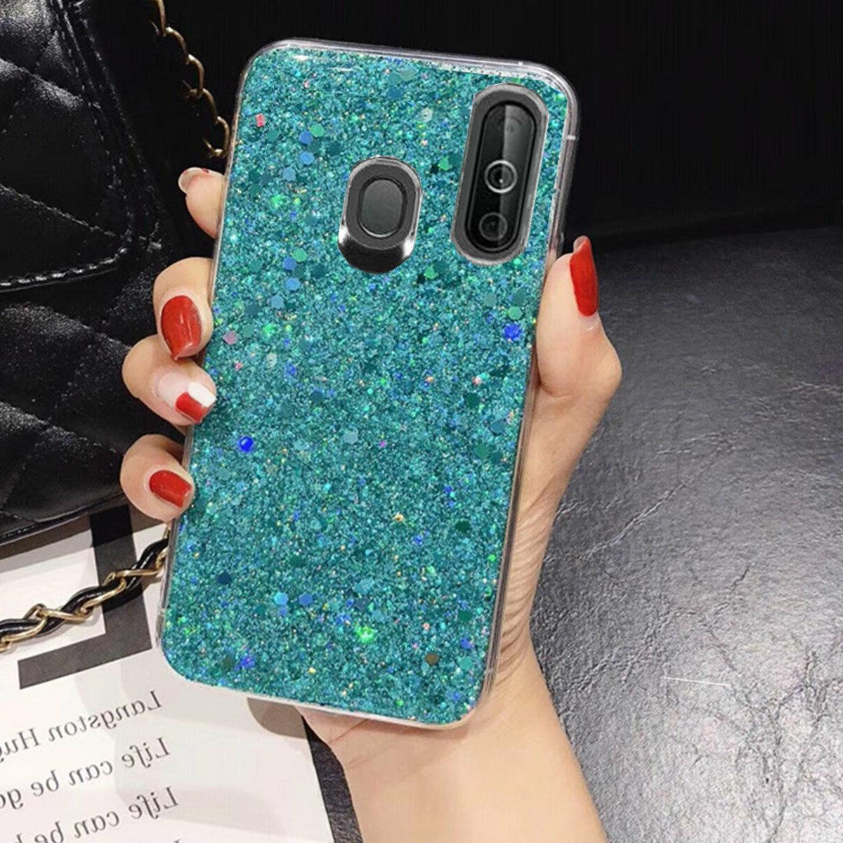 Samsung Galaxy A20 A50 Bling Phone Case Rubber Cover