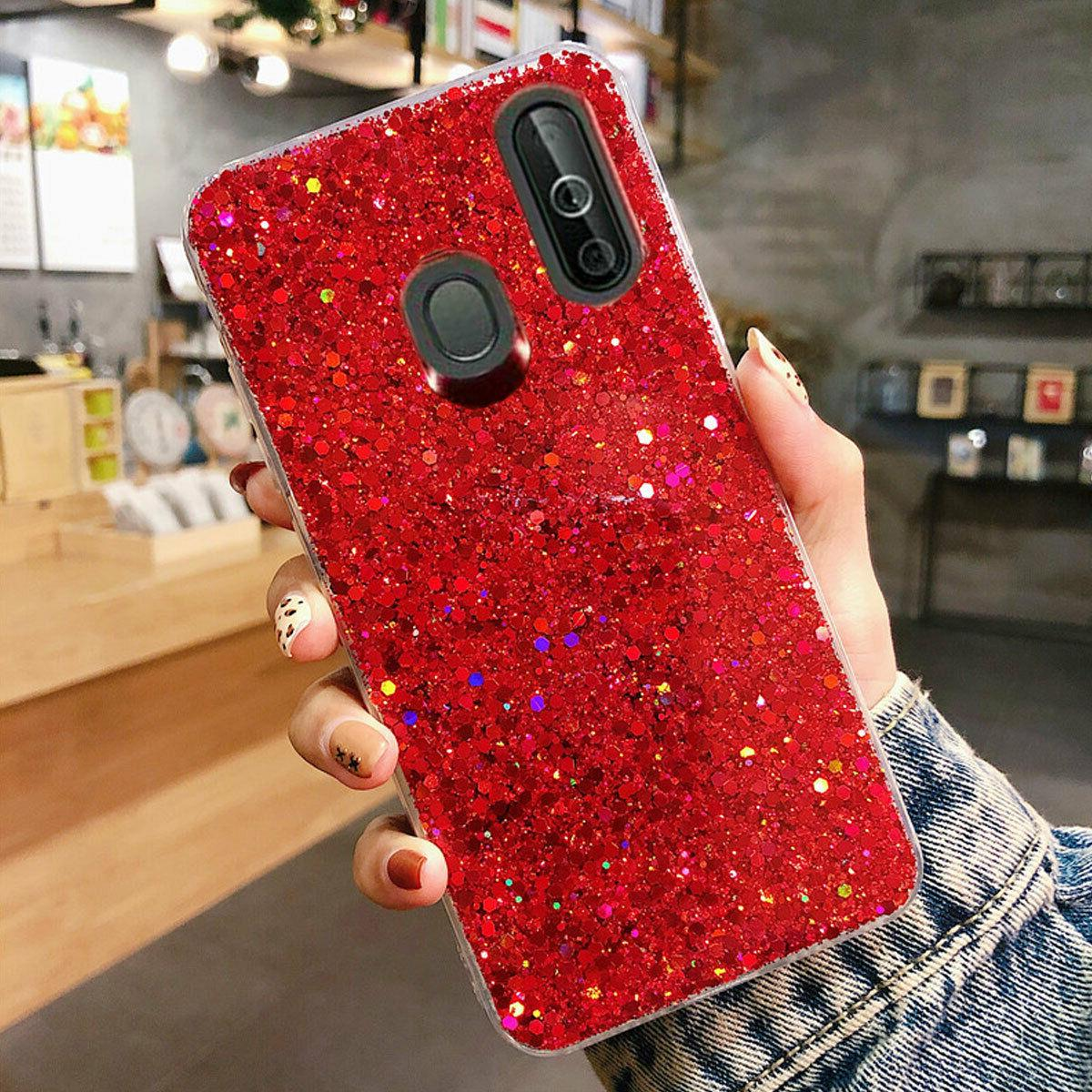 Samsung A10e A50 A70 Shockproof Bling Rubber Cover