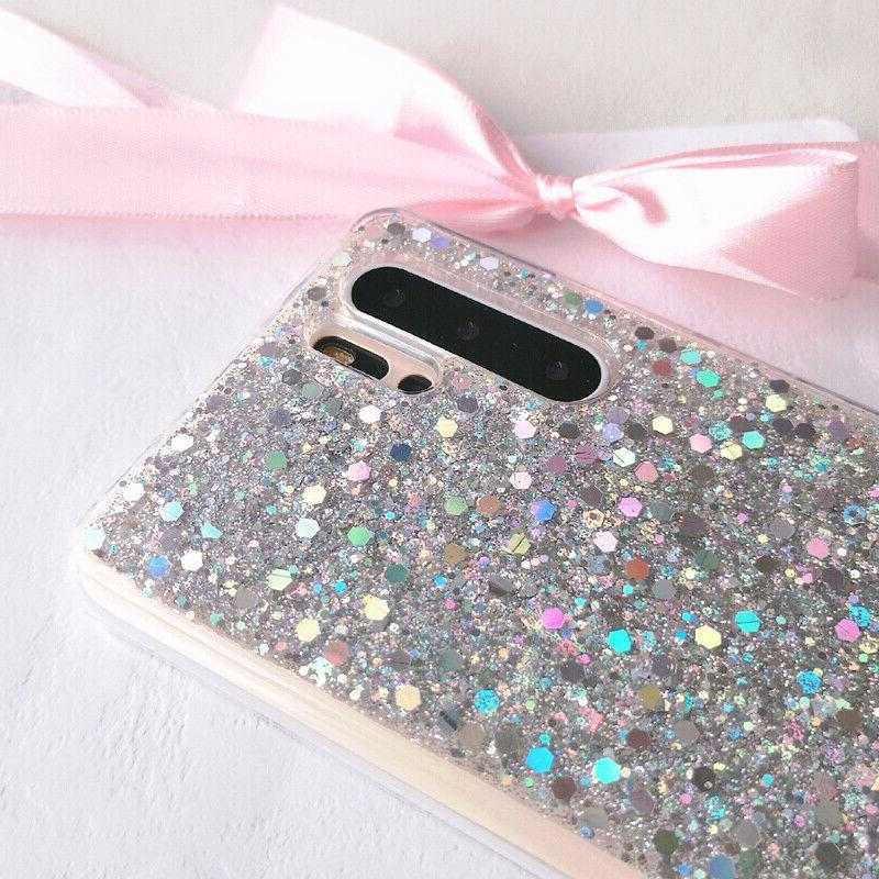 Samsung A50 A70 Shockproof Glitter Bling Phone Cover