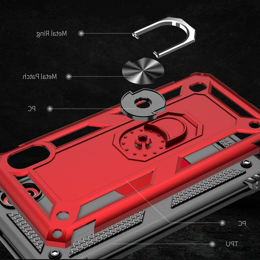 For Galaxy A20 Case, Metal Ring +Tempered Glass