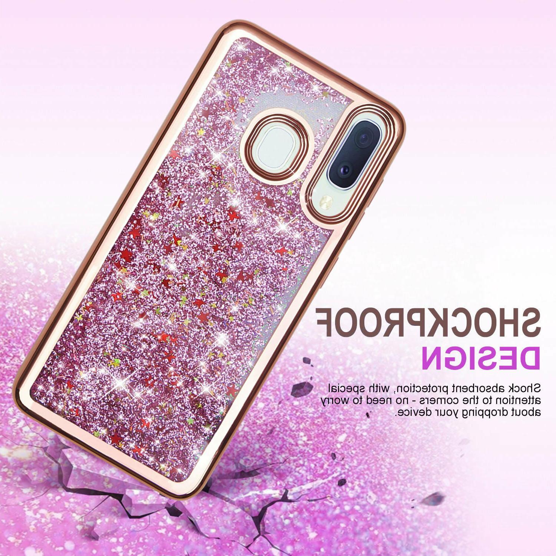 For Samsung Galaxy A10E A20 A50 Cover, Liquid Bling