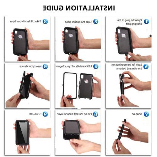 For Phone Case+Belt Otterbox Defender+Tempered Glass