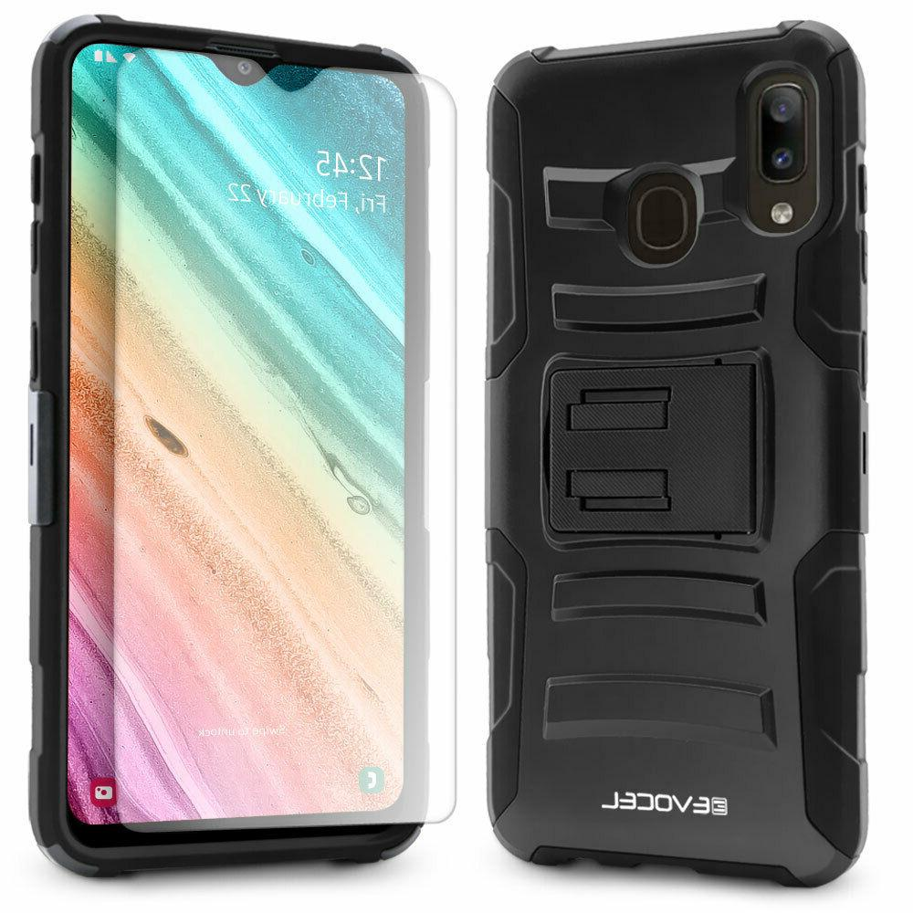 Samsung A20 Rugged Phone Case Screen Protector and - Evocel