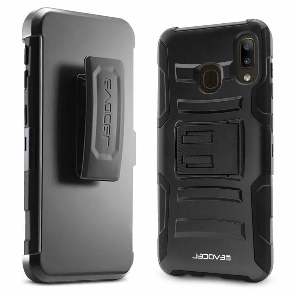 Samsung A20 Phone Case with Screen Protector and Holster - Evocel