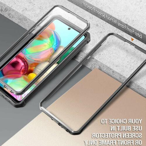Samsung Galaxy Hybrid Bumper Shockproof Protective Cover Black