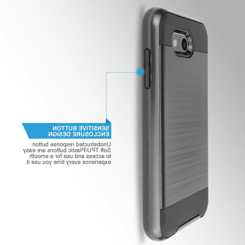 For Samsung Luna Brushed Hybrid Armor Case