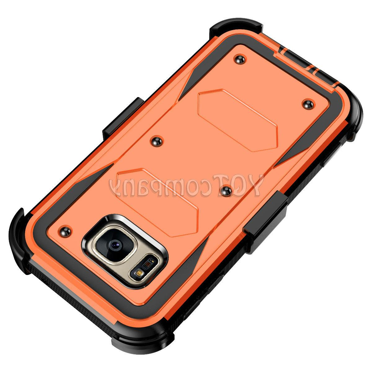 For S7 Case Hybrid Rugged Armor Stand Cover