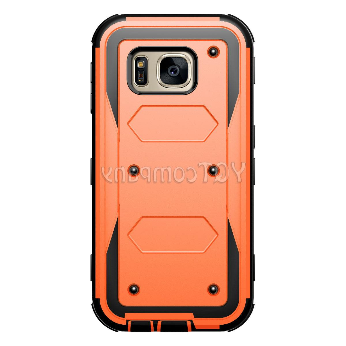 For Samsung Galaxy S7 Case Hybrid Rugged Armor Stand
