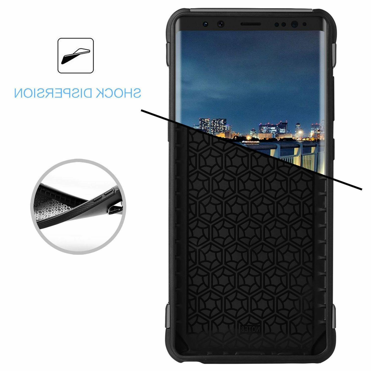 For Samsung Note 8 Phone Case Cover Shockproof Carbon Armor