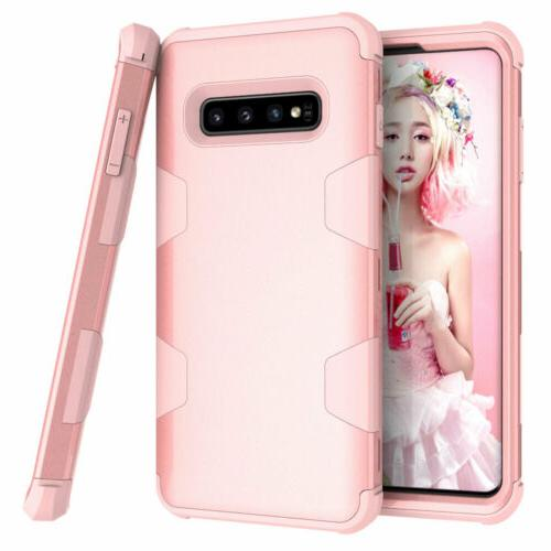 For Samsung S8 S9 S10 8 Heavy Duty Rubber Hard Cover