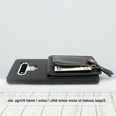Harryshell Shockproof Zipper LG Stylo 6 Wallet