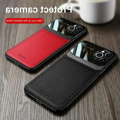 Slim Leather Hybrid Phone Case Cover 12 Max 11 XS 7