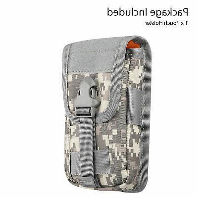 Universal Tactical Cell Phone Belt Pack Bag Pocket Molle Waist Case