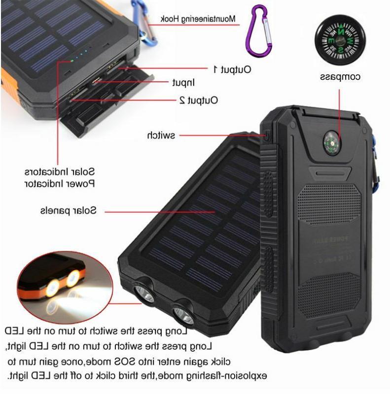 2020 900000mAh USB Portable Solar Solar Power