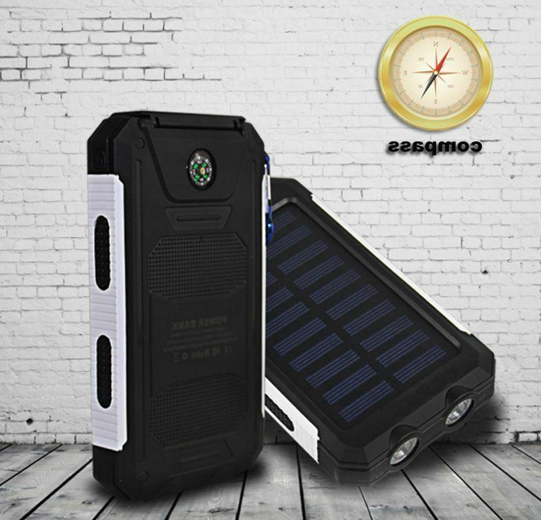 2020 Waterproof 900000mAh Portable Solar Power For Phone