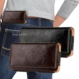 Leather Cell Phone iPhone Horizontal Carrying Pouch Case Cov