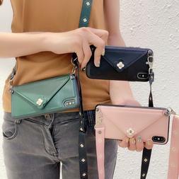 Leather Wallet Phone Case Women Shoulder bag for iPhone 7 8