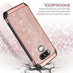 LG G5 Case Shockproof AntiScratch Hybrid Bling Dual Layer Co