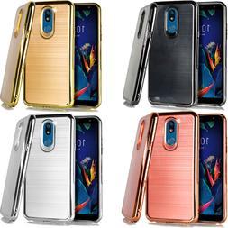 For LG K40 Brushed Chrome TPU Gel Hard Skin Case Phone Cover